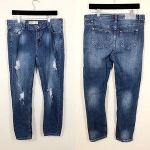 COTTONON.COM Boyfriend style Distressed Jeans